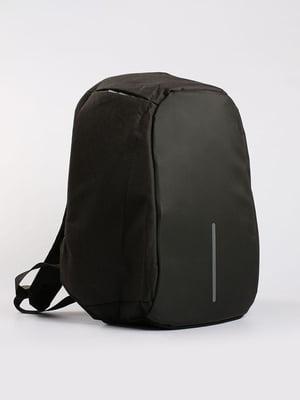 Рюкзак протикрадій з USB чорний | 4808280