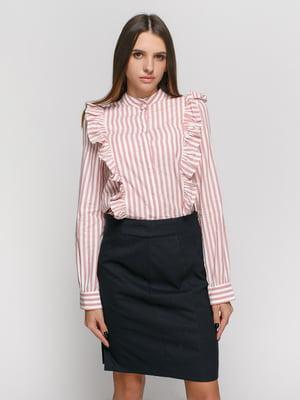 Рубашка розовая в полоску | 4777625