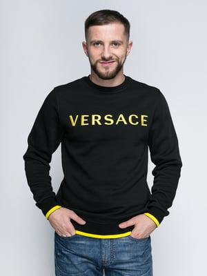Світшот чорний з написом - Versace - 4808107