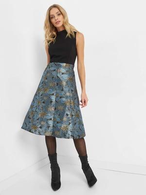 Сукня чорна з квітковим малюнком | 4739533