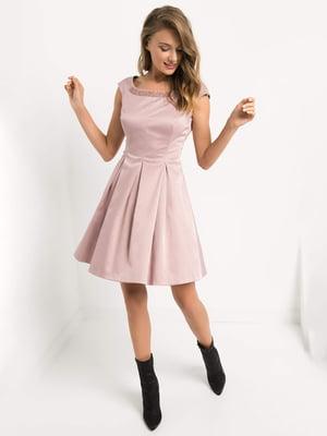 Сукня кольору пудри | 4793218