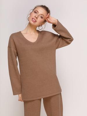 Пуловер цвета мокко | 4788324