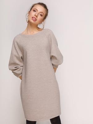 Платье темно-бежевое | 4788310
