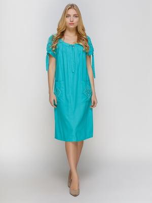Платье бирюзовое | 4810123