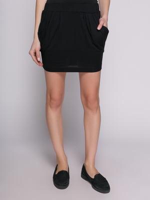 Юбка черная с карманами | 402746