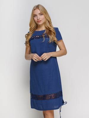 Платье темно-синее | 4810120