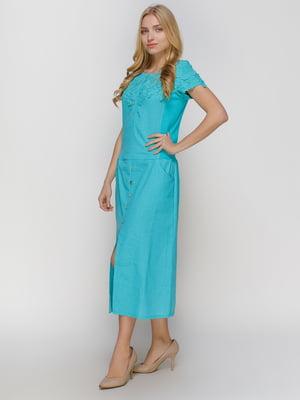 Платье бирюзовое | 4810110
