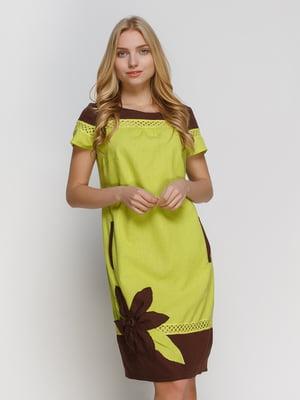 Платье двухцветное | 4810112