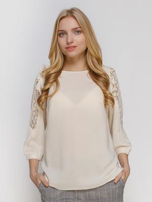 Блуза молочного кольору | 4810095