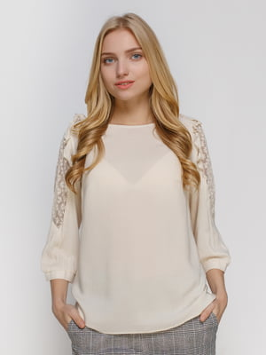 Блуза молочного цвета | 4810095