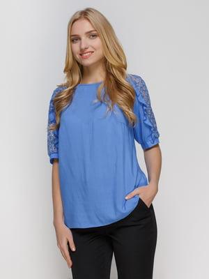 Блуза голубая | 4810098