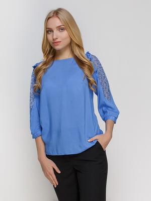 Блуза голубая | 4810094