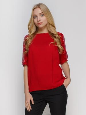 Блуза бордова | 4810097