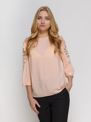 Блуза персикового кольору | 4810093