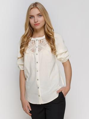 Блуза молочного кольору | 4810096