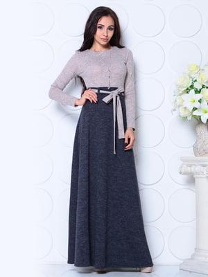 Платье пудрово-синего цвета | 4785257
