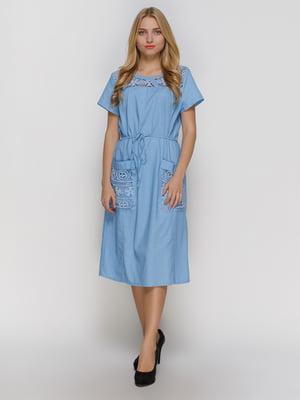Платье голубое   4810106