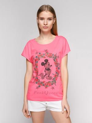 Футболка розовая с изображением Микки Мауса | 434175