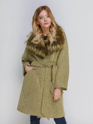 Пальто оливкового кольору | 4739365