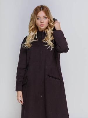 Пальто кольору марсала | 4739293