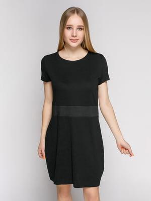 Сукня чорна з оздобленням по талії | 475066