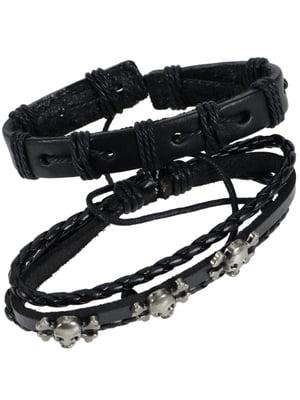 Набор кожаных браслетов (2 шт.) | 4795023