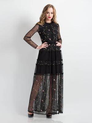 Платье черное с вышивкой | 4781895