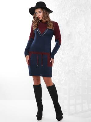 Платье-туника двухцветное | 4815737
