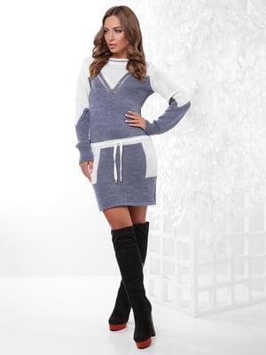 Платье-туника двухцветное | 4815738