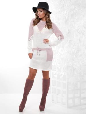 Платье-туника двухцветное | 4815739