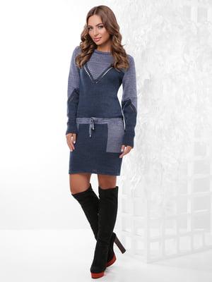 Платье-туника двухцветное | 4815740