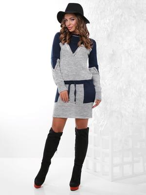 Платье-туника двухцветное | 4815741