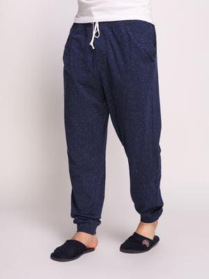 Брюки синие пижамные | 4800069
