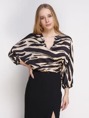 Блуза анималистичной расцветки   4790219