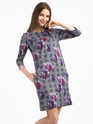 Платье комбинированной расцветки | 4817072