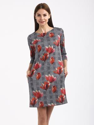 Платье комбинированной расцветки | 4817073
