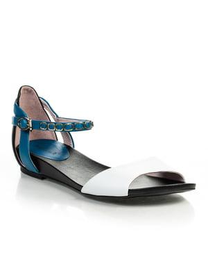 Сандалии сине-белые | 4716171