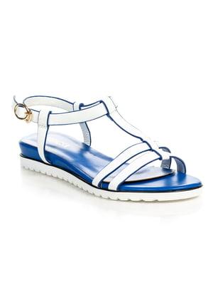 Босоножки бело-синие | 4715862