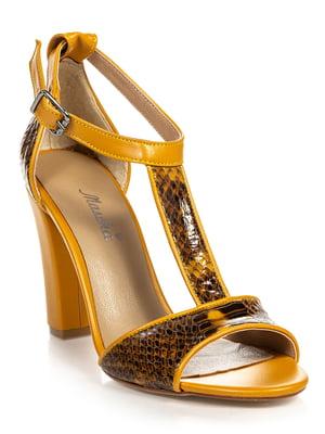 Босоножки желтые | 4715944