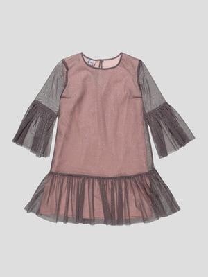 Платье серо-розовое   4816697