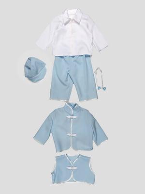 Костюм: кепка, сорочка, штани, краватка-метелик, піджак, жилет   4816699