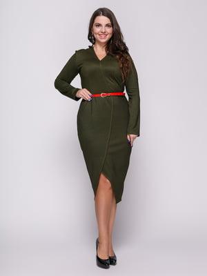 Платье темно-зеленое | 4695828