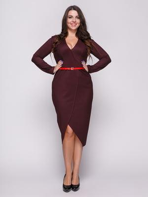 Платье цвета марсала | 4695827