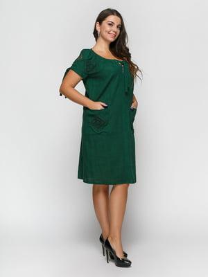 Платье темно-зеленое | 4810122