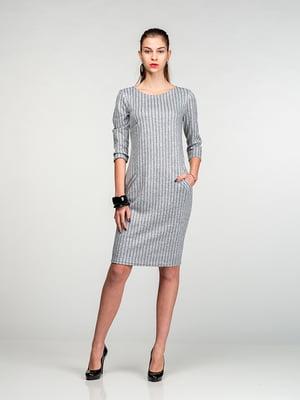 Сукня світло-сіра в смужку | 4818092
