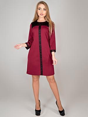 Сукня бордова | 4808042