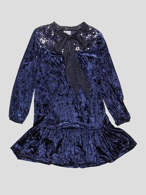 Платье синее   4816696