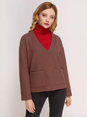 Пуловер коричневий | 4817513