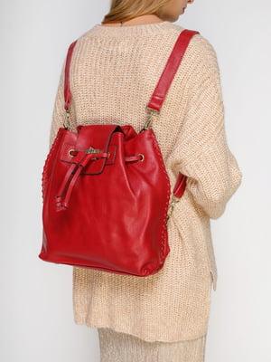 Сумка-рюкзак красная | 4816491