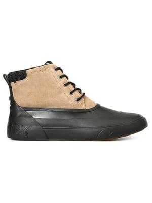 Ботинки бежево-черные | 4715468